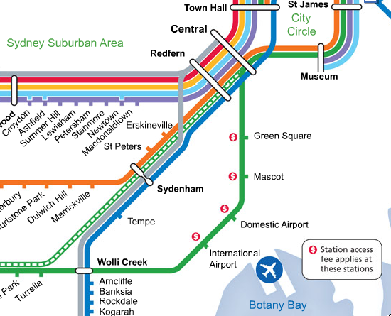Airport Line Network Map